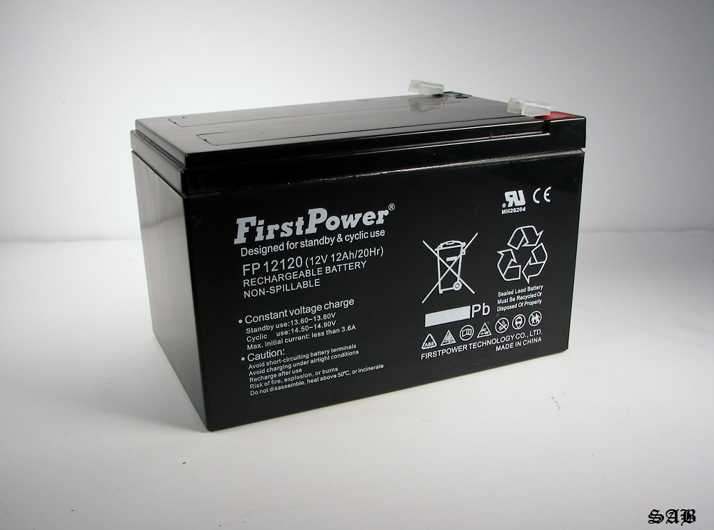 firstpower fp12120 12v 12ah f2 ups backup battery replaces. Black Bedroom Furniture Sets. Home Design Ideas