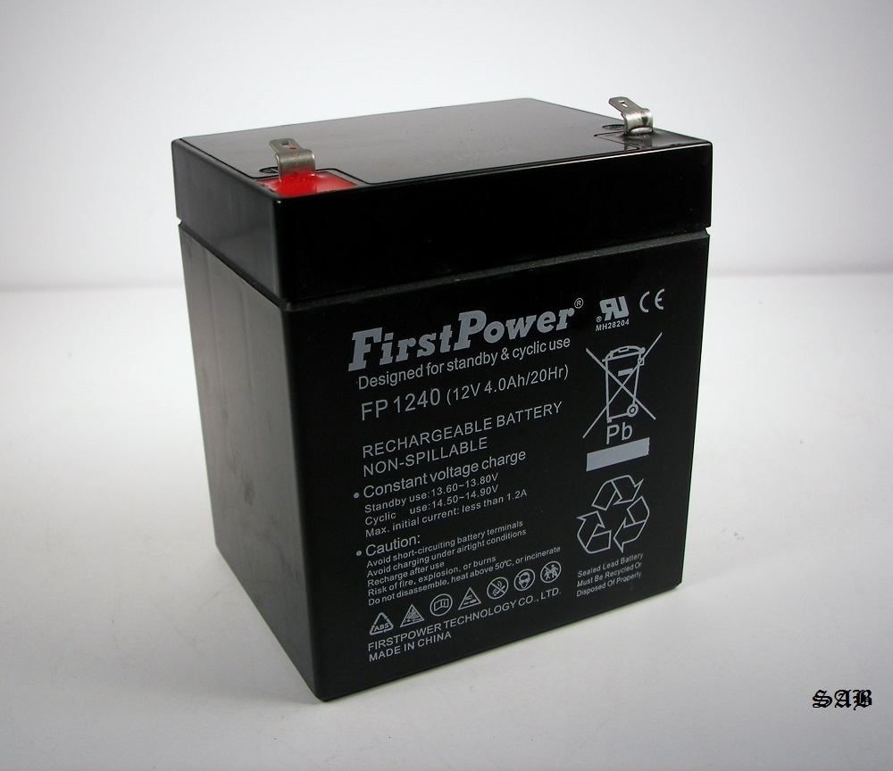 firstpower fp1240 12v 4ah security alarm battery replaces. Black Bedroom Furniture Sets. Home Design Ideas