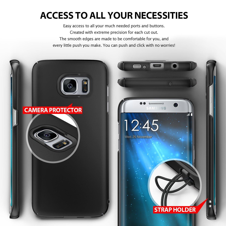 3 von 8 Ringke SLIM Cover für Samsung Galaxy S7 Edge Hülle Case Tasche gold
