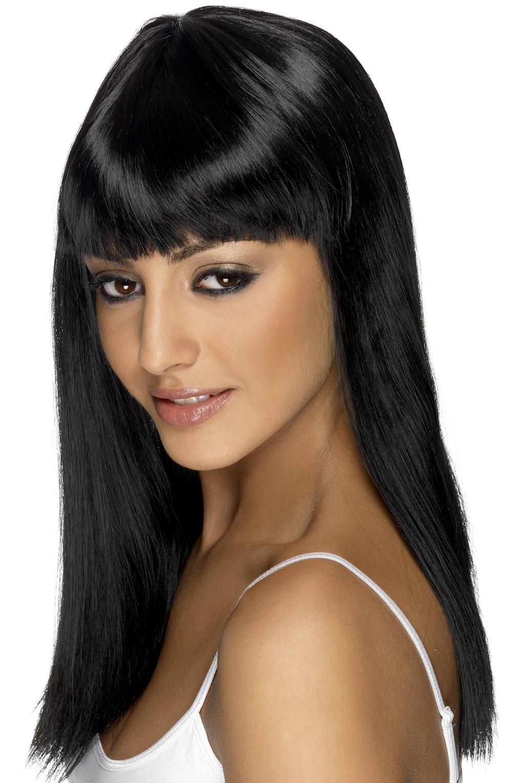 Причёски на длинные чёрные волосы с чёлкой фото