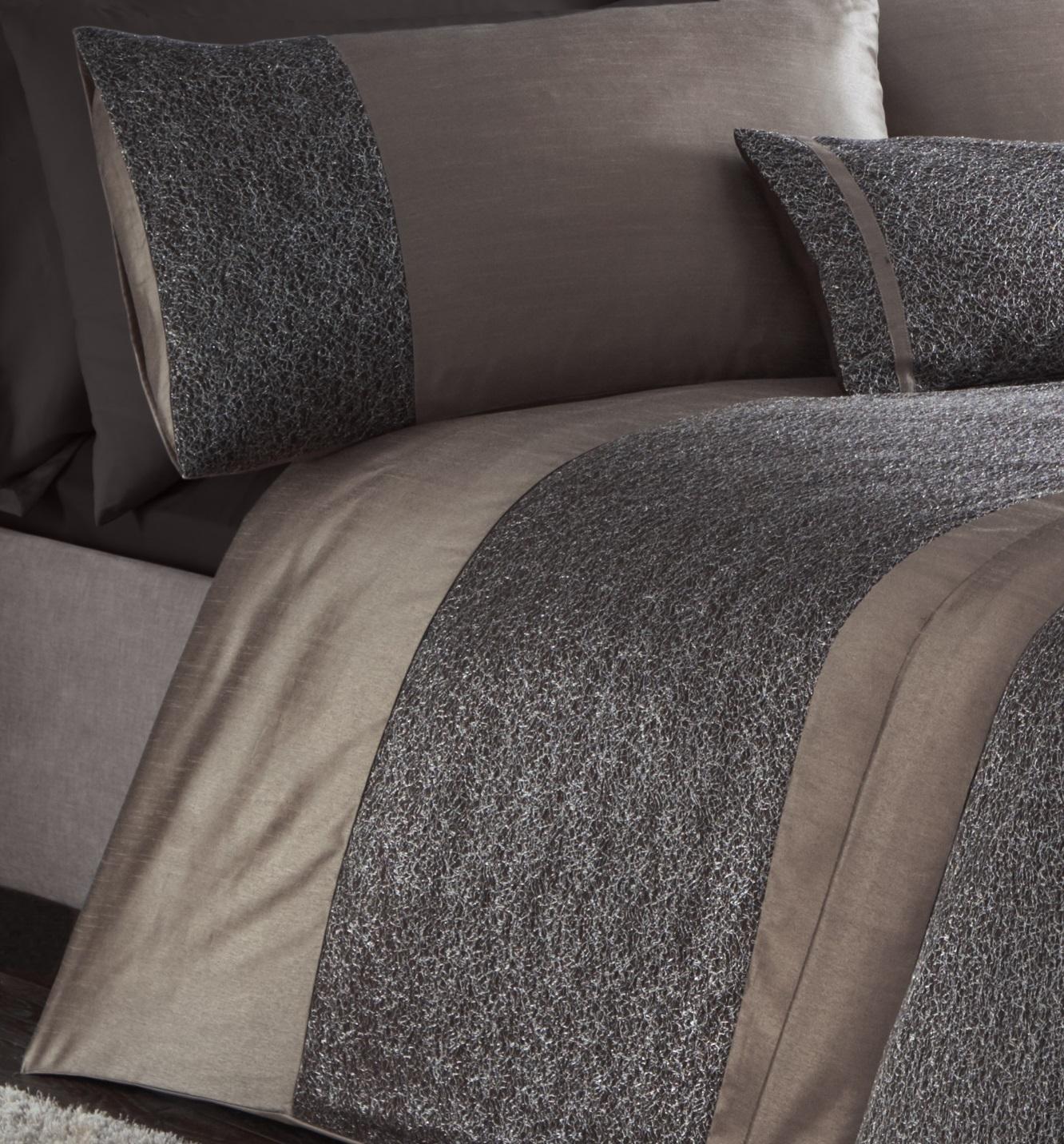LUXURY SHIMMER RIMINI DUVET COVER SET QUILT BEDDING BED LINEN SET OR RUNNER NEW