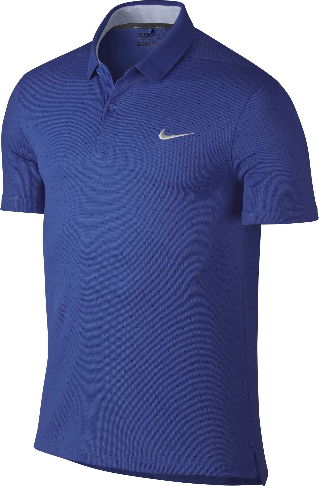2016 Nike Modern Fit Transition Dry Print Golf Polo Men 39 S: modern fit golf shirt
