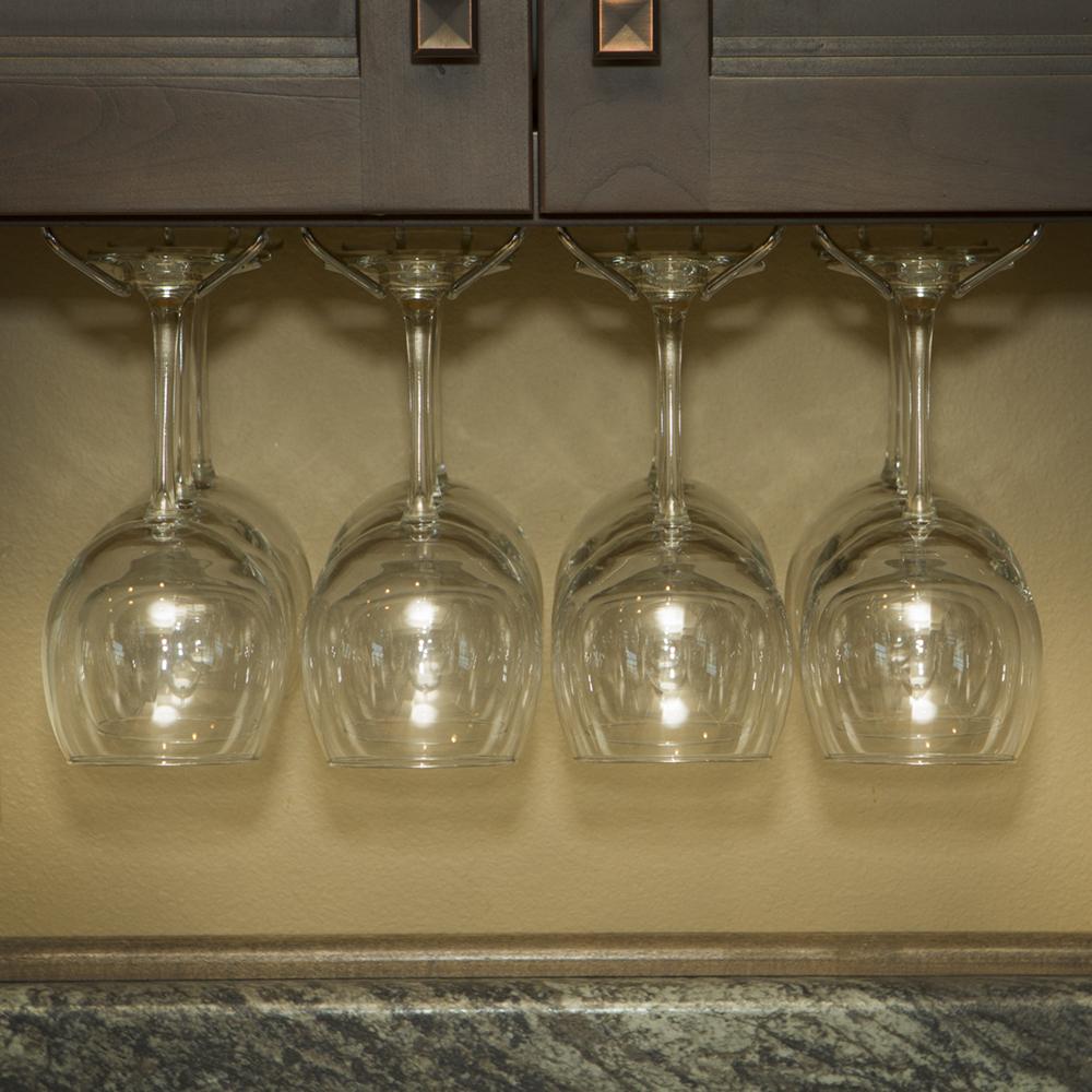 Wine Glass Rack Under Cabinet Stemware Holder Holds 6 To