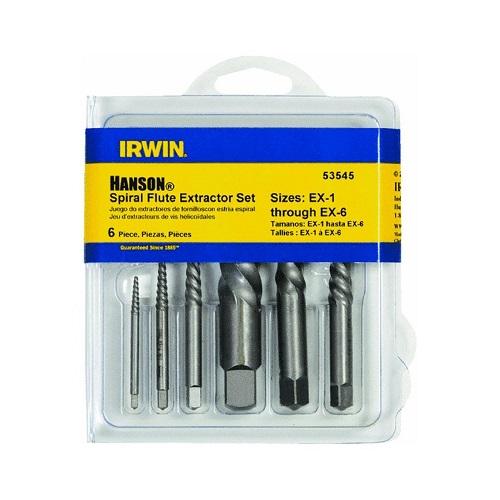 Irwin hanson 53545 spiral flute screw extractors 6 piece for Irwin motors body shop