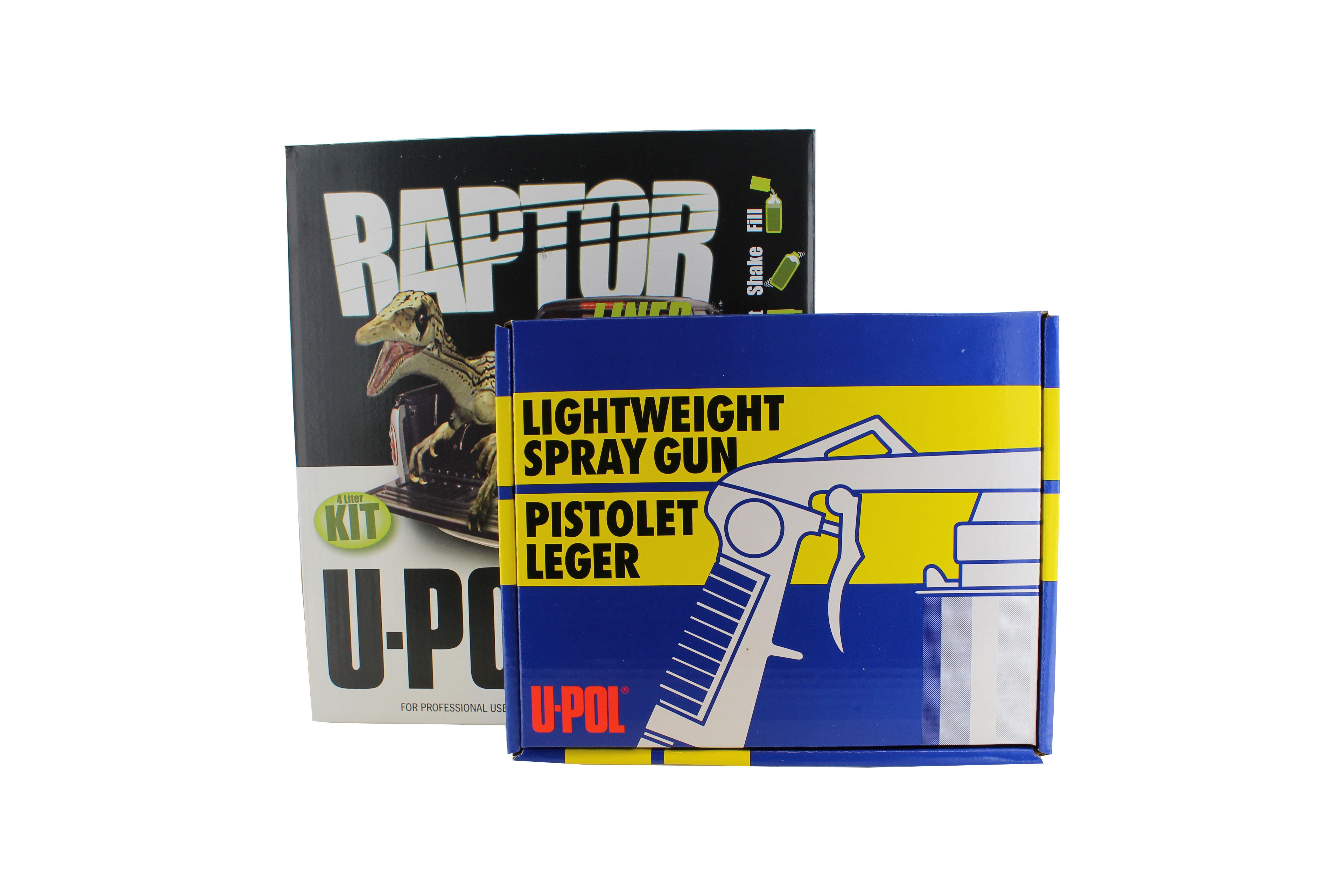 u-pol upol 820v raptor black urethane spray-on truck bed liner kit