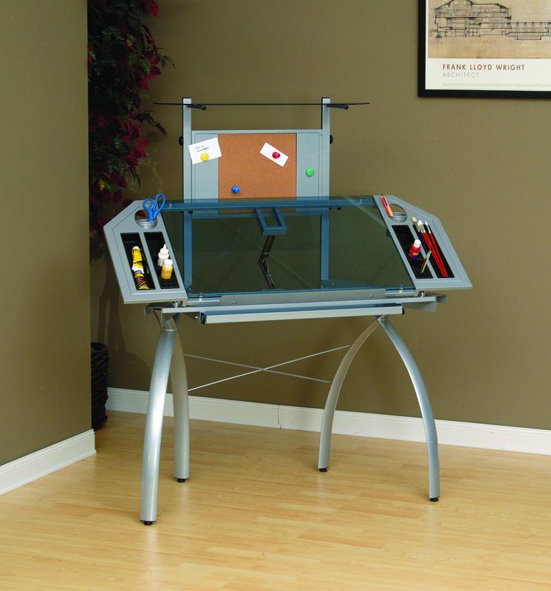 Studio designs futura glass craft station table tower ebay for Studio designs craft station