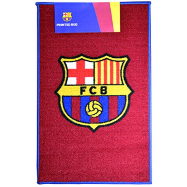 F.C Barcelona Printed Football Crest Rug