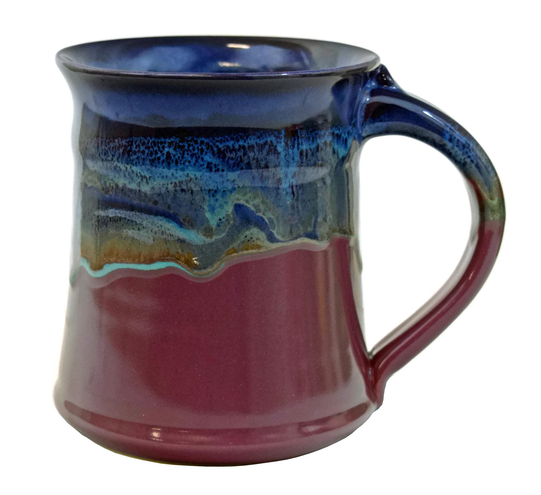 Clay in motion handmade ceramic medium mug coffee cup 16oz for Passion coffee
