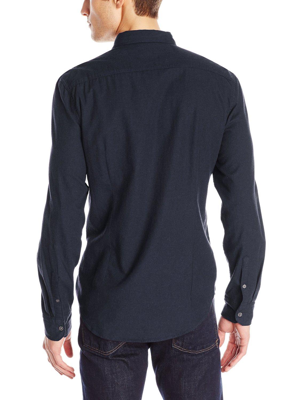 calvin klein jeans men 39 s brush twill solid shirt 41s1126. Black Bedroom Furniture Sets. Home Design Ideas