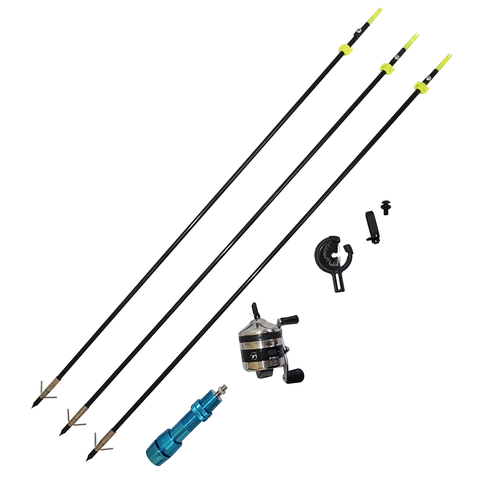 Safari choice bowfishing combo reel arrow rest blue for Bow fishing reel