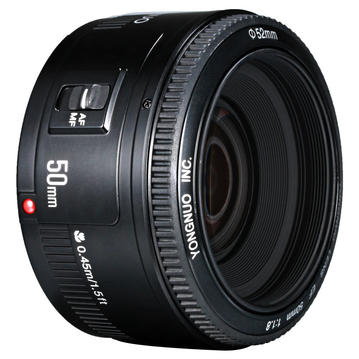 yongnuo yn 50mm f1 8 large aperture af lens for canon 600d. Black Bedroom Furniture Sets. Home Design Ideas