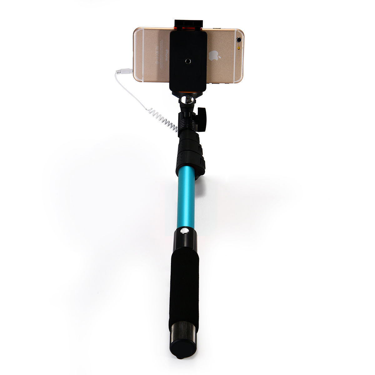 wired selfie stick extendable monopod mirror handheld for iphone 6 plus 6 5s 5c ebay. Black Bedroom Furniture Sets. Home Design Ideas