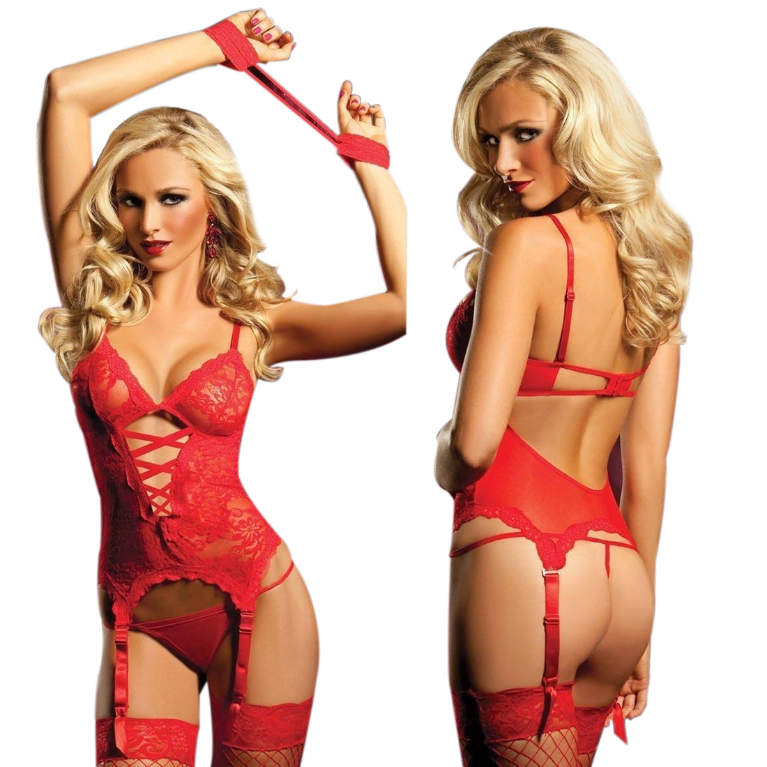 Intimate Valentine's Day Gift Red Camisole Sexy Lingerie Pajama ...