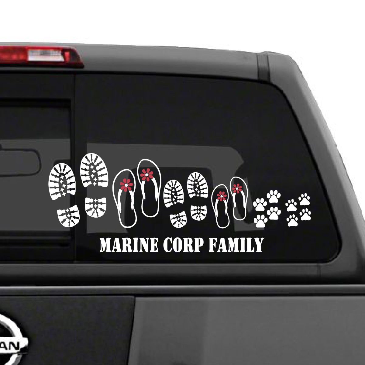 Marine Corp Family Shoes Car Decal The Decal Guru