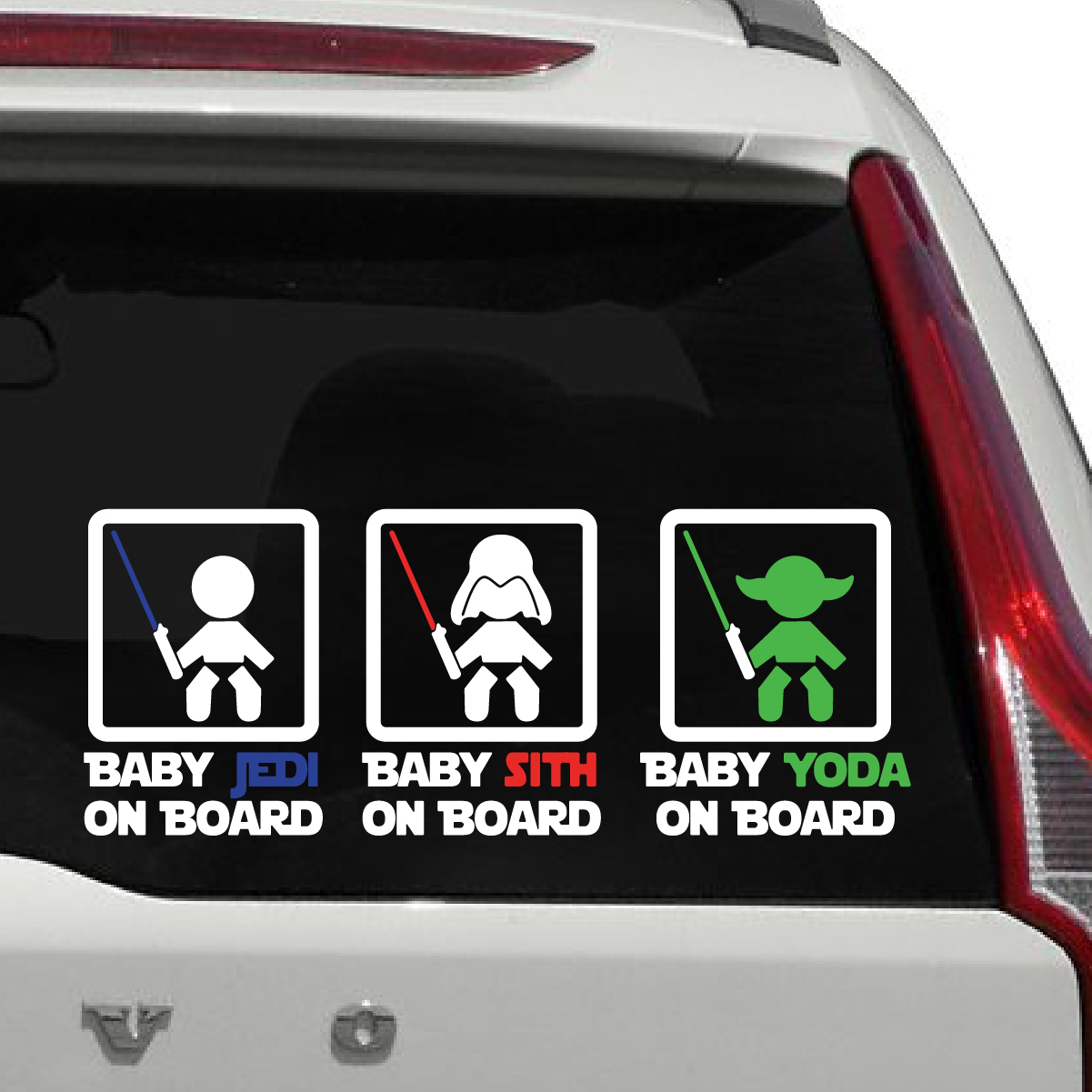 Baby Jedi On Board Sign Car Decal The Decal Guru - Vinyl decal stickers for carsbest car decals images on pinterest car decals family