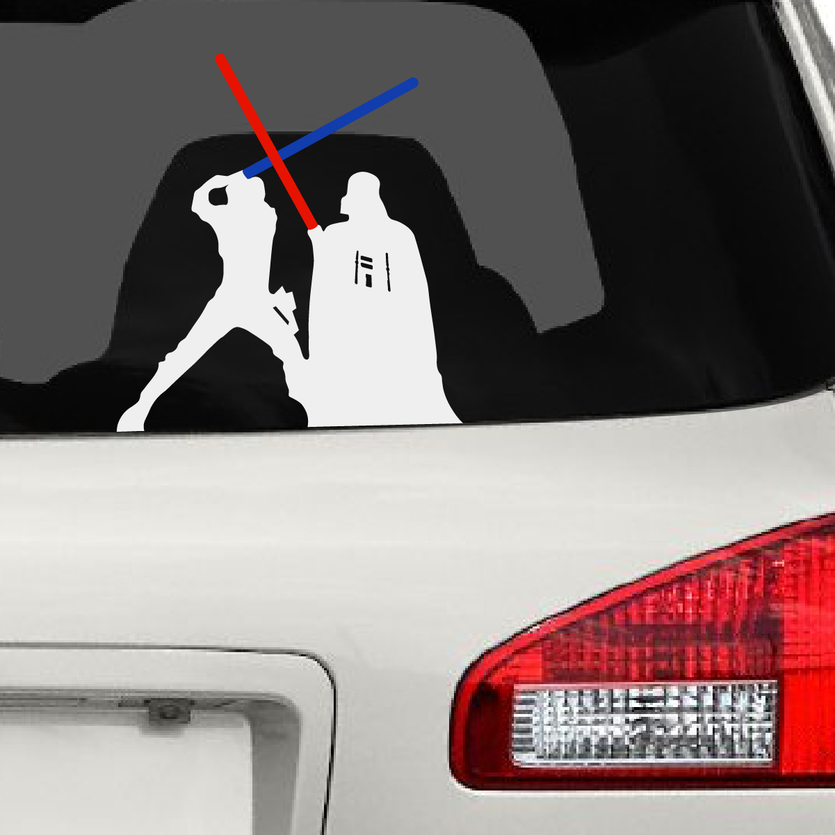 Darth Vader  Luke Skywalker Fight Car Decal The Decal Guru - How to make your own car decals at home