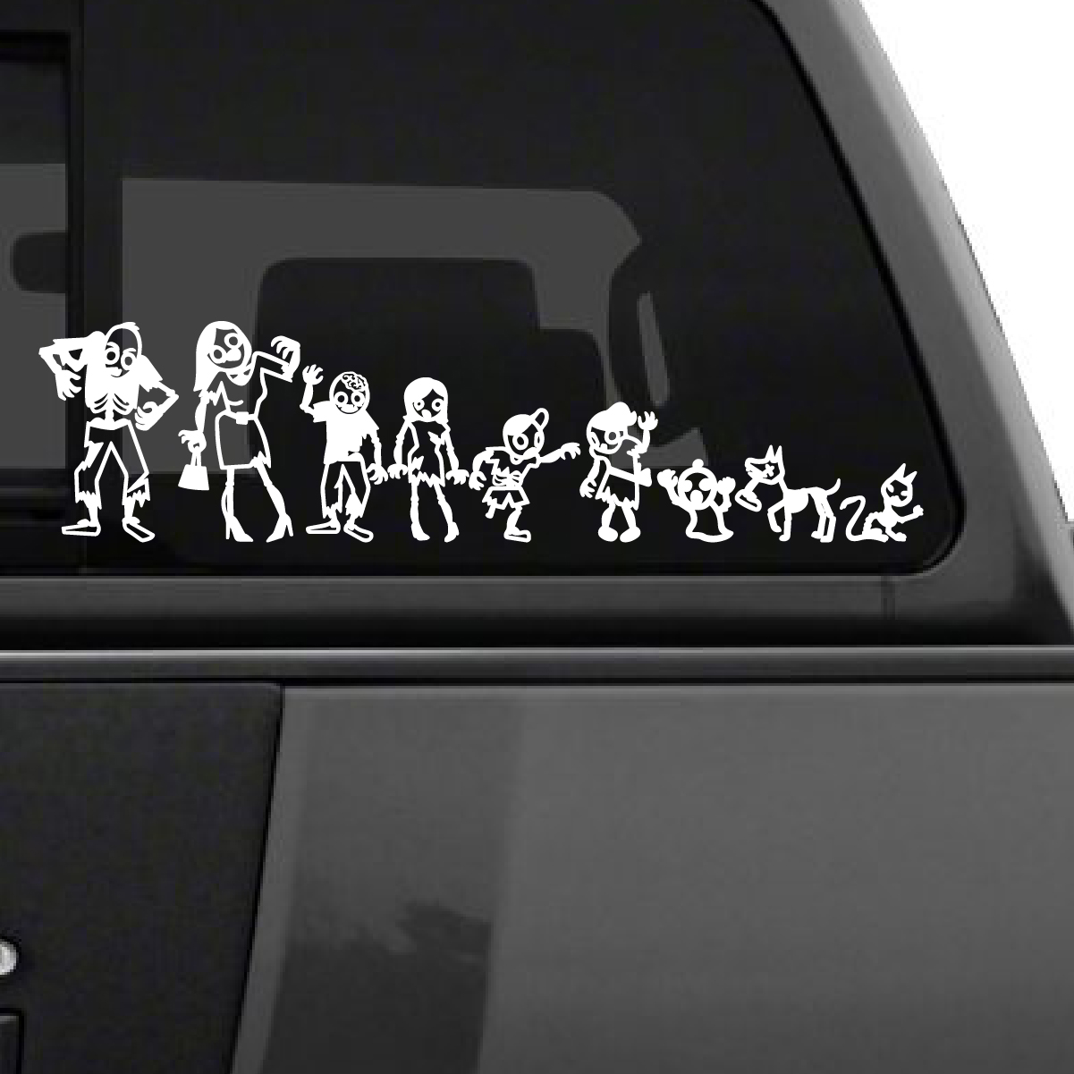 Zombie Stick Figure Family Car Decal The Decal Guru - Sporting car decals