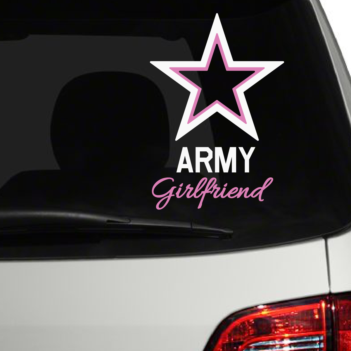 Army Girlfriend Car Decals The Decal Guru - Decals for your car