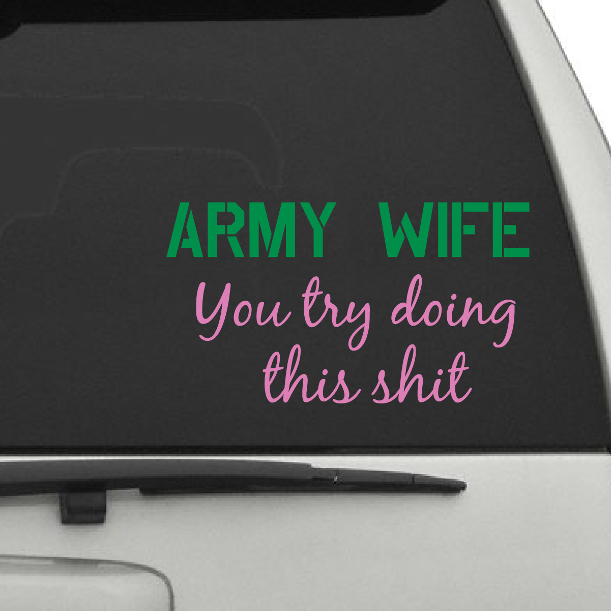 Army Wife Car Decals The Decal Guru - Military window decals for cars