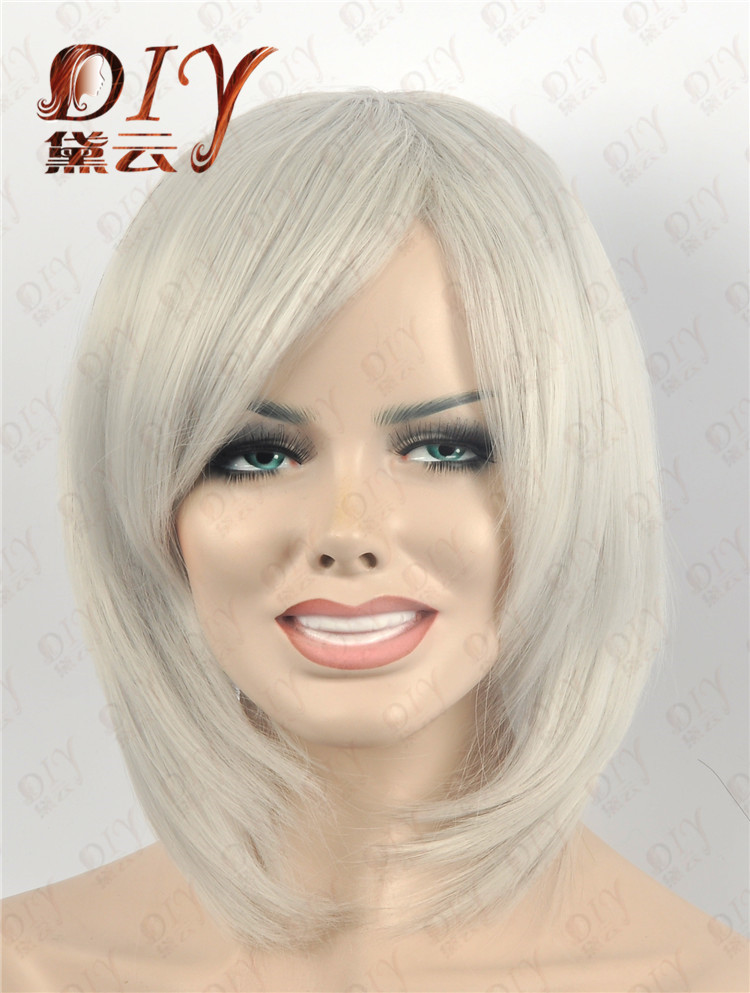 Women Lady Heat Medium Hot Sale 11 Colors Straight Cosplay Party Full Hair Wig