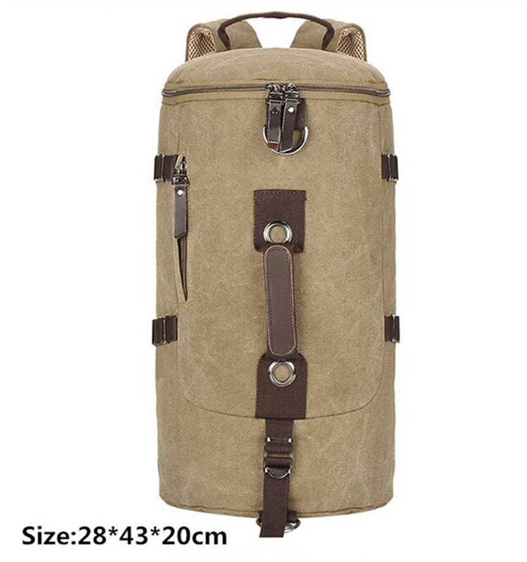 Military Men Canvas Vintage Bucket Rucksack Crossbody Travel ...