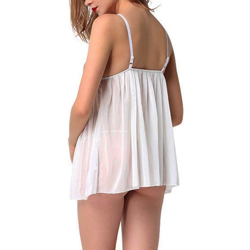 Womens Sleepwear Satin Chemise Lace Babydoll Nightie Night ...