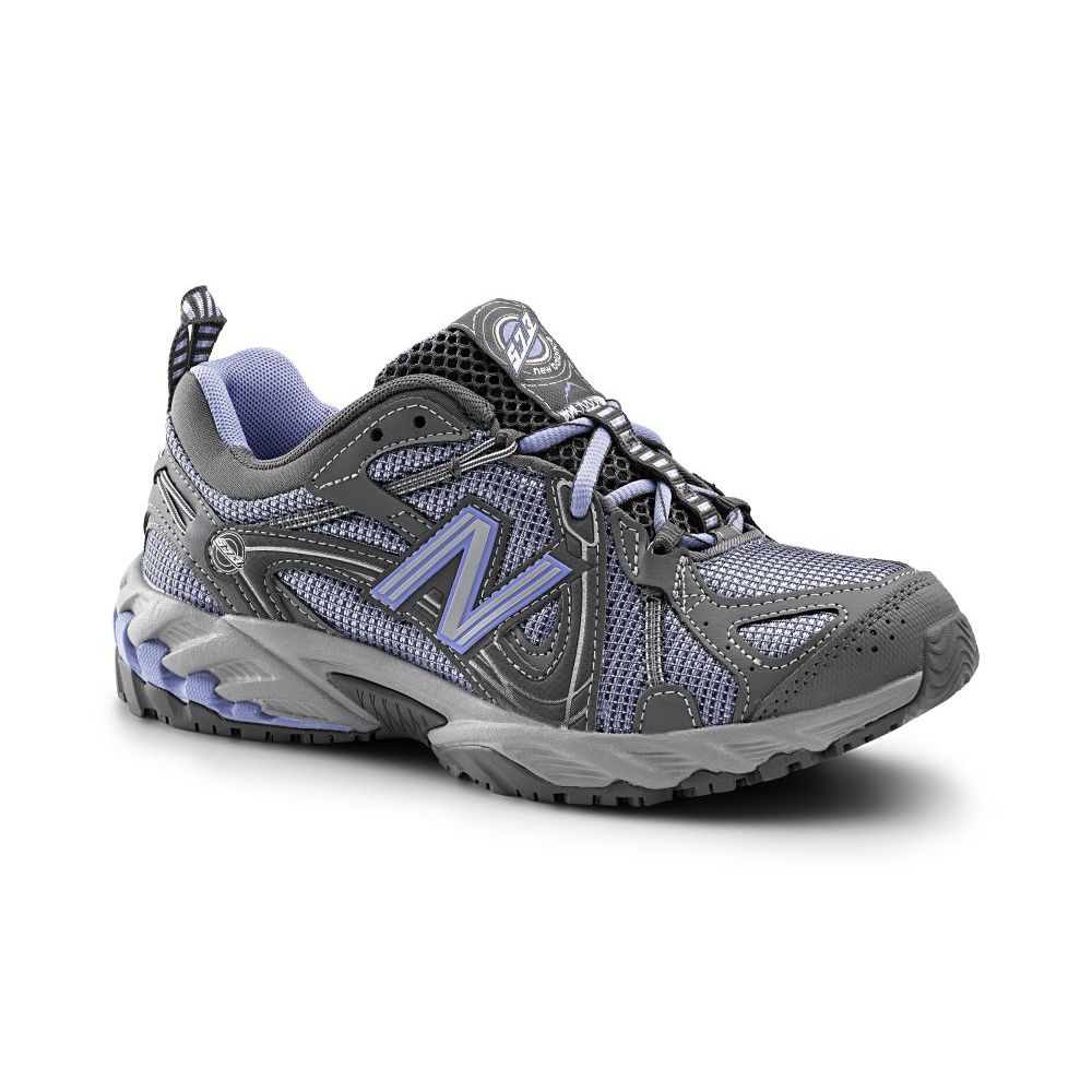 New Balance SureGrip New Balance SureGrip Womens 573 SG Gray/Light Blue Trail Off-Road Athletic Work Shoes