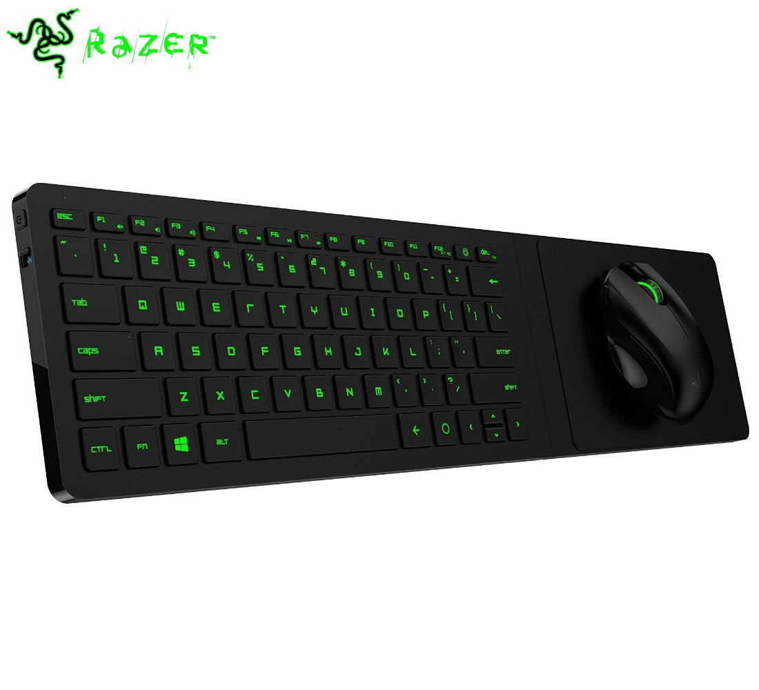 Razer turret living room wireless ergonomic gaming for Living room keyboard