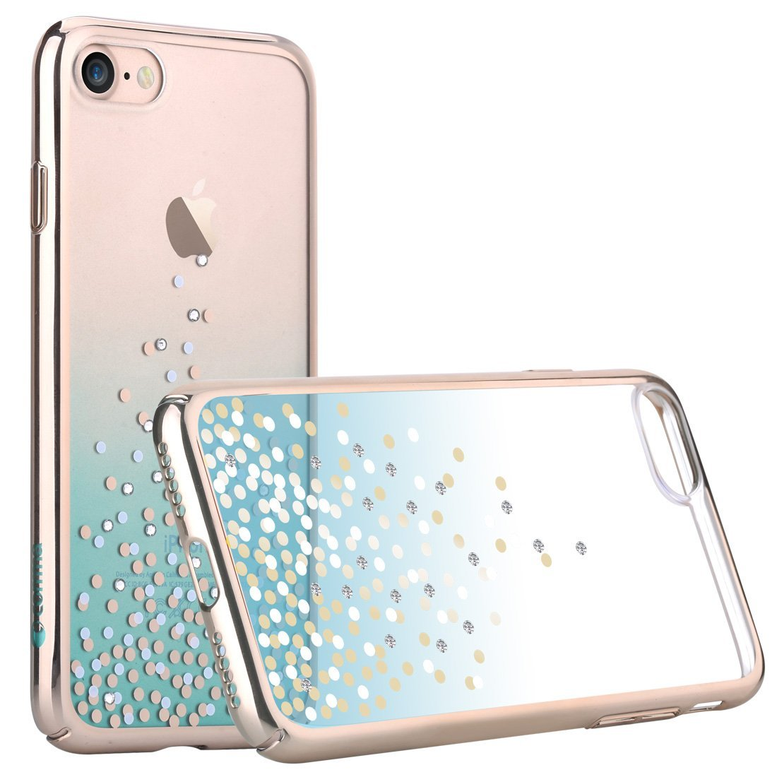 Comma-Unique-Polka-360-Series-Slim-Swarovski-Element-Case-for-iPhone-7-4-7-034-VS