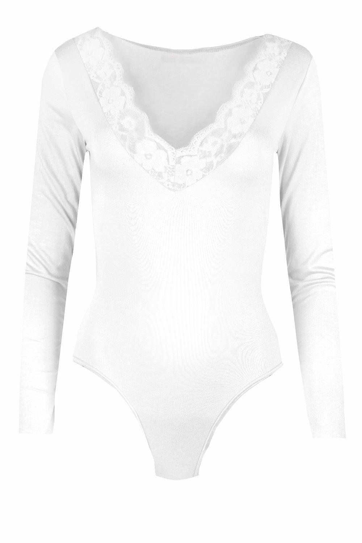 Womens White V Neck T Shirts