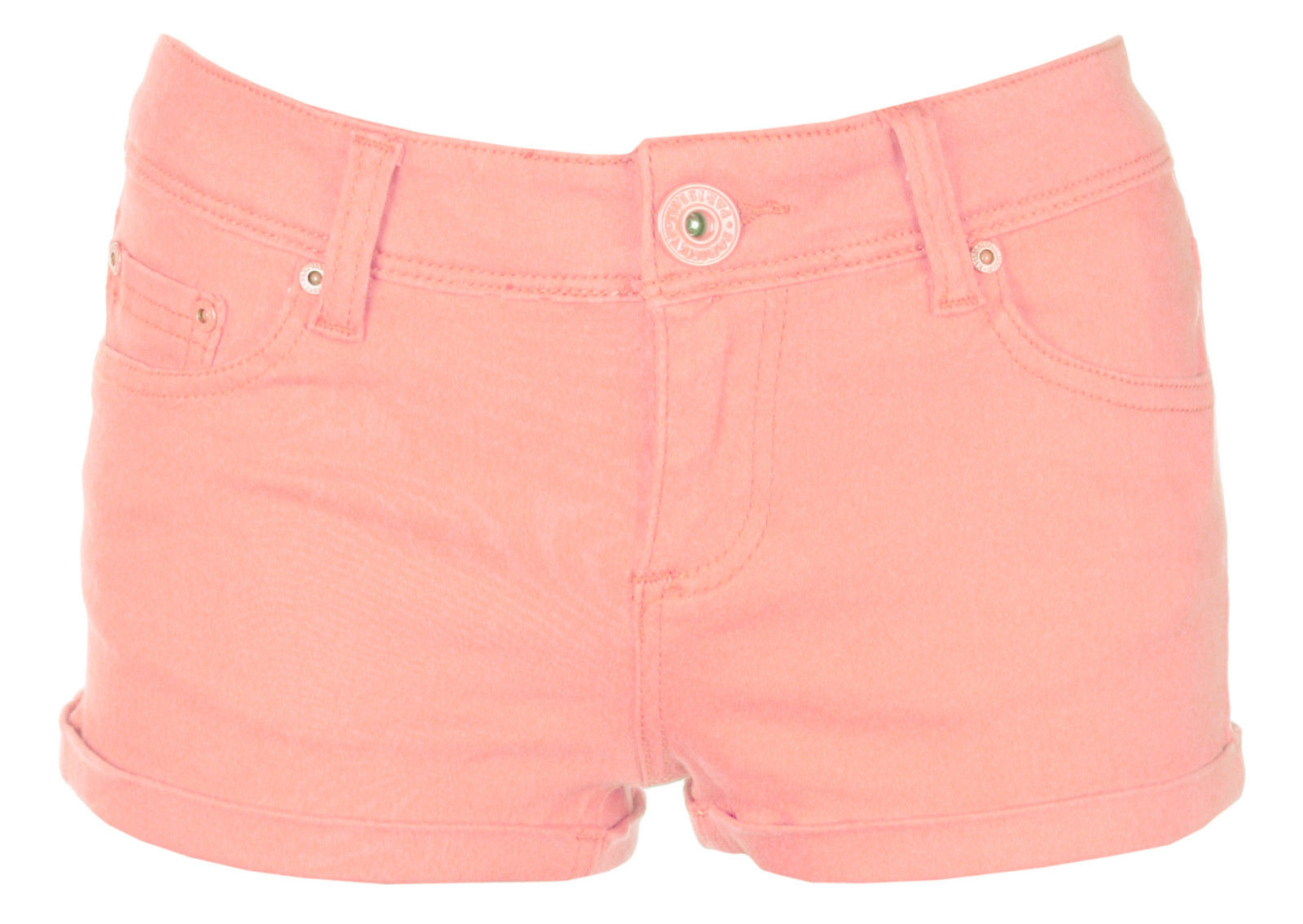 New-Ladies-Low-Waist-Coloured-Denim-Hotpants-Shorts-Womens-Jeans-Size-6-8-10-12