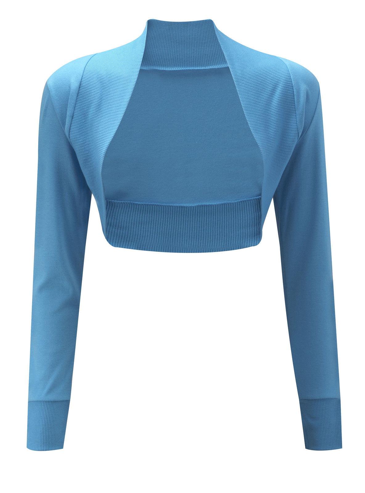 New-Ladies-Womens-Long-Sleeve-Shrug-UK-8-10-12-14