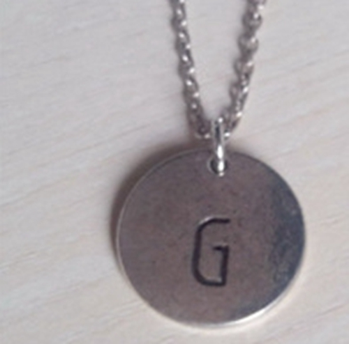 initial necklace personalized discs charm custom letter