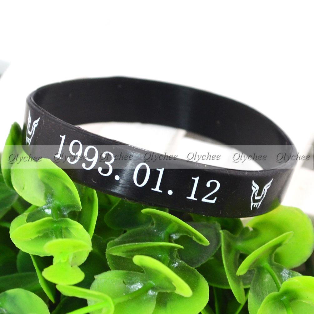 1PC New Fashion EXO-D.O.Birthday Stars Silicone Neon Wristband Bracelet