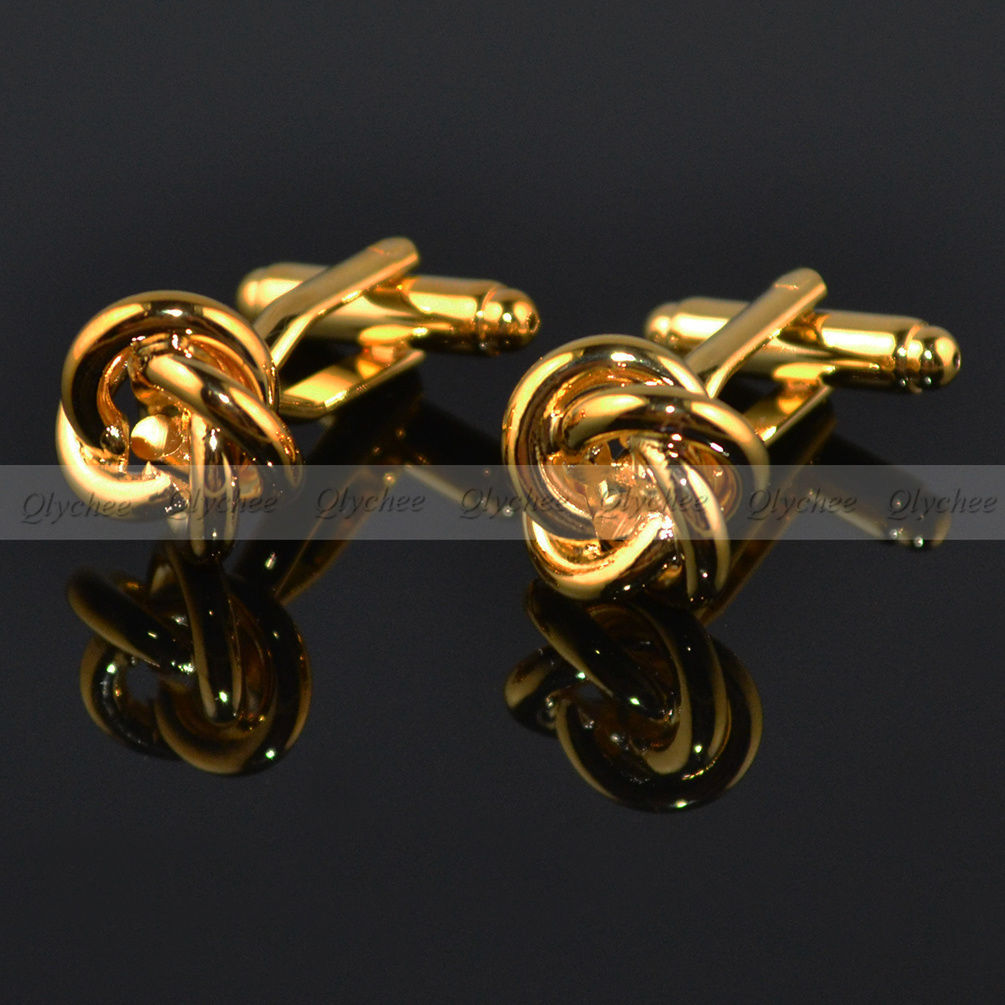 Mens womens shirts silver gold color knot cufflinks for Womens cuff link shirts