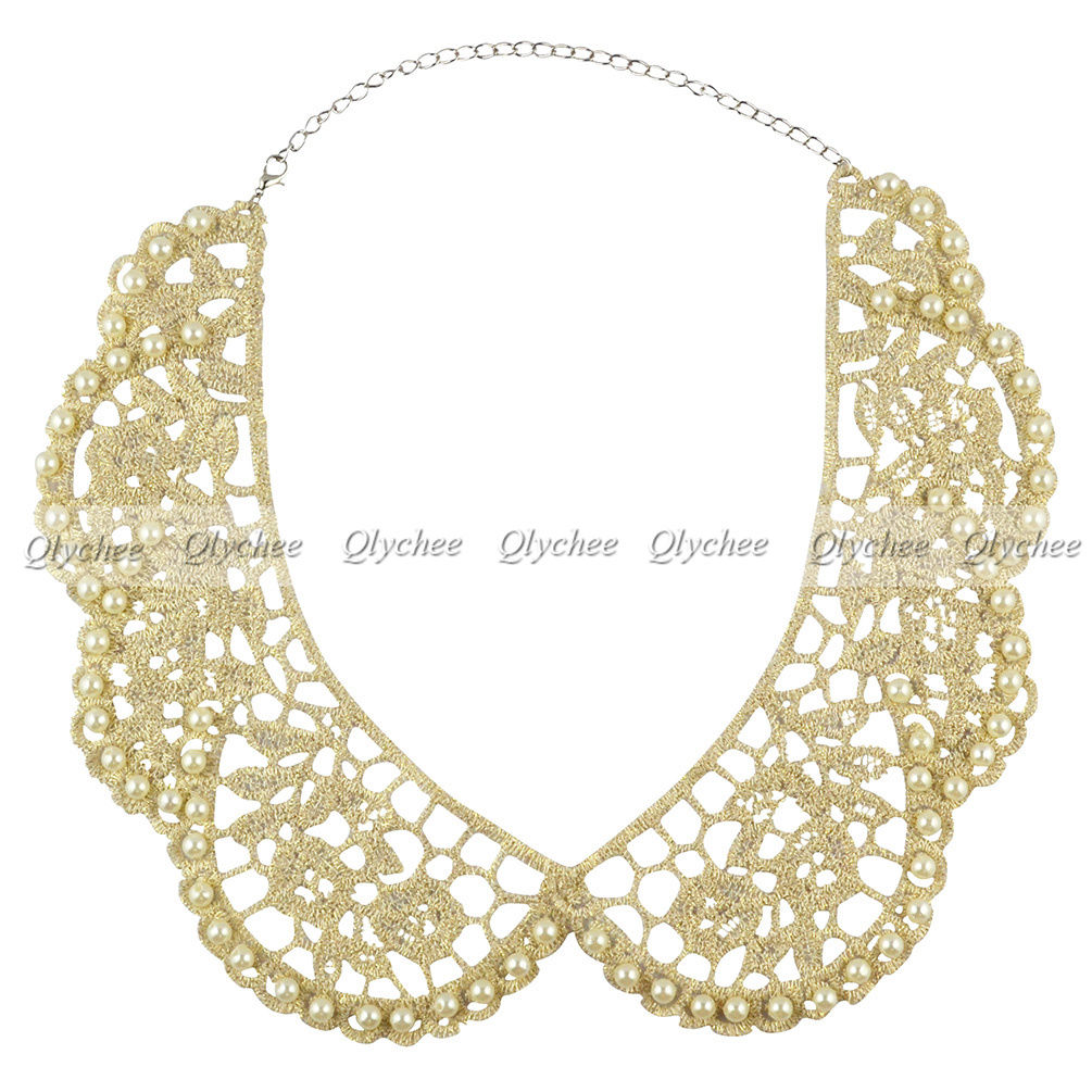 new lace pearl choker statement necklaces pan