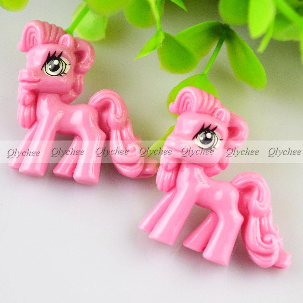 Kawaii Cartoon Cute My Little Pony Resin Flatback Scrapbook Decorations