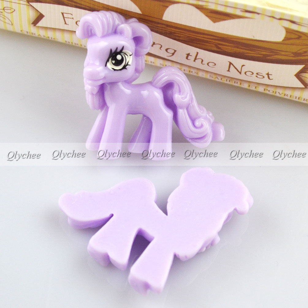 Kawaii Cartoon Cute My Little Pony Resin Flatback Scrapbook Decorations