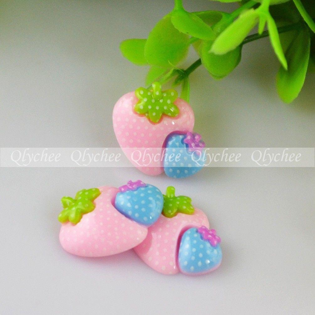 New Crafts Resin Flatback Kawaii Strawberry Cabochons DIY Decoration