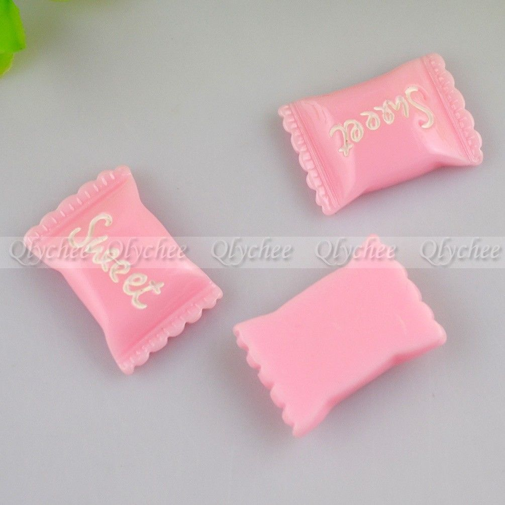 DIY Sweet Candy Sugar Scrapbooking Model Crafts Ornament FlatBack Resin Cabochon