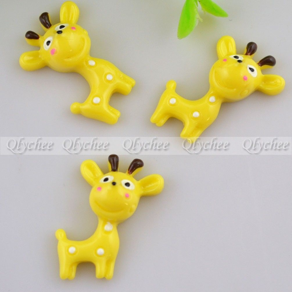 DIY Arts and Crafts Decoration Scrapbooking Sika Deer FlatBack Resin Cabochon