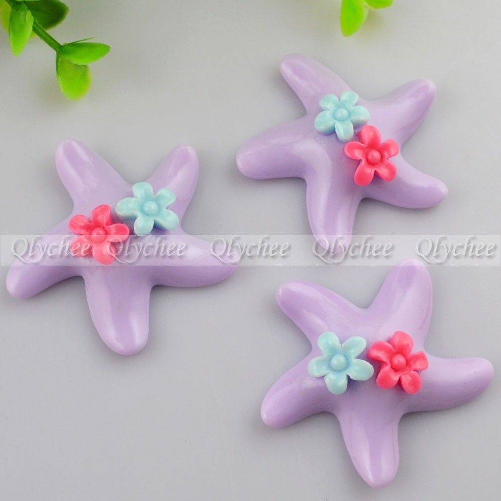 New DIY Decoration Flowers Starfish Crafts Scrapbooking FlatBack Resin Cabochon
