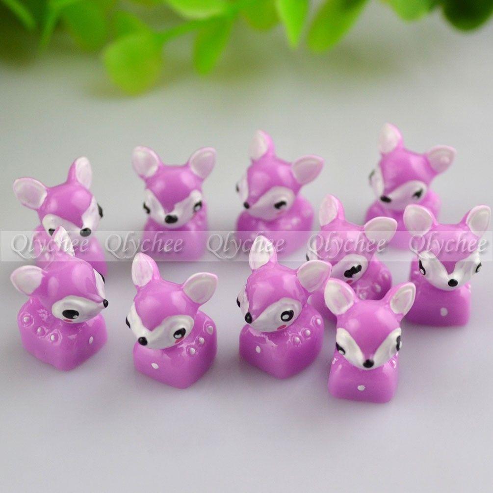New 3D DIY Crafts Decoration Cute Sika Deer Ornaments FlatBack Resin Cabochon
