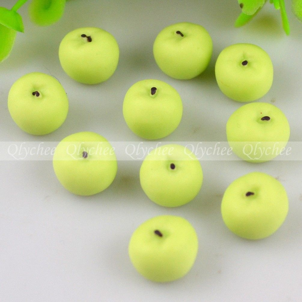 3D DIY New Description Cute Apple Resin Cabochon Flat backs Scrapbooking Craft