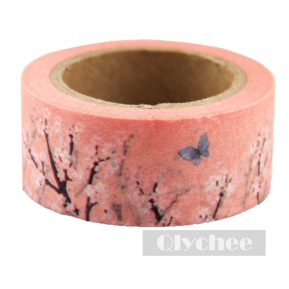 1 Roll Diy Paper Sticky Adhesive Sticker Decorative Washi