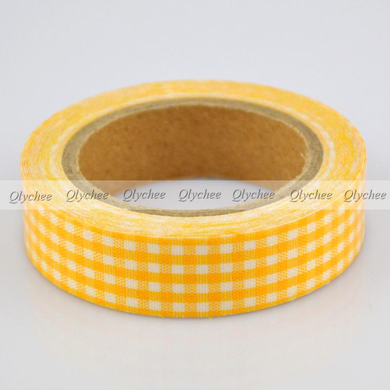 New Arrival 15mm Printing Fabric Washi Decorative DIY Tape Sticker