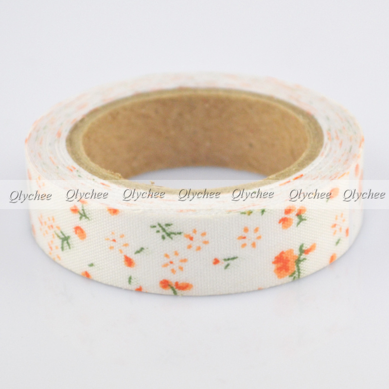 New Arrival 15mm Printing Fabric Washi Decorative DIY Tape Sticker