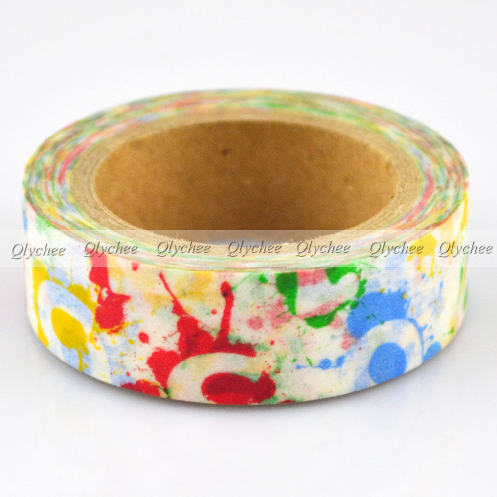 Japanese Extra Wide Deco Decorative Floral Washi Paper Tape Masking Tape