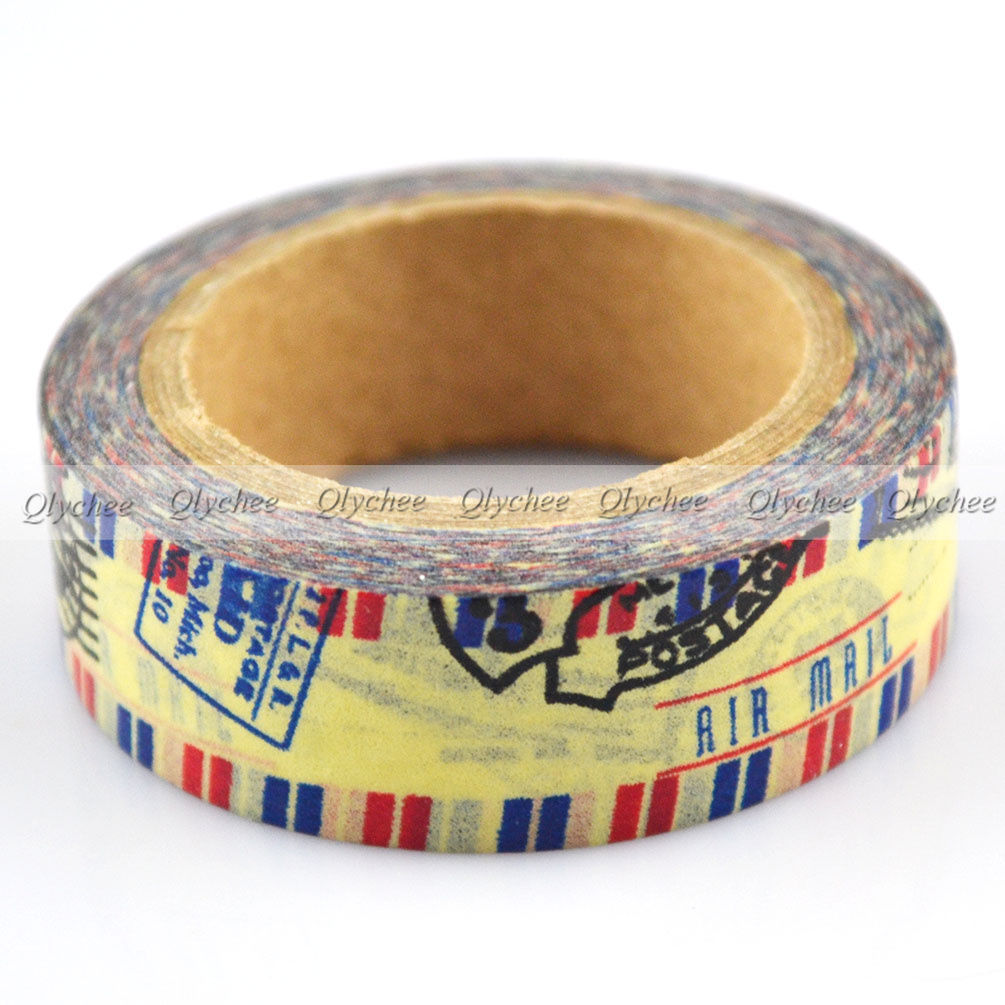 1 roll japanese washi tape diy masking paper sticky adhesive sticker decorative ebay. Black Bedroom Furniture Sets. Home Design Ideas
