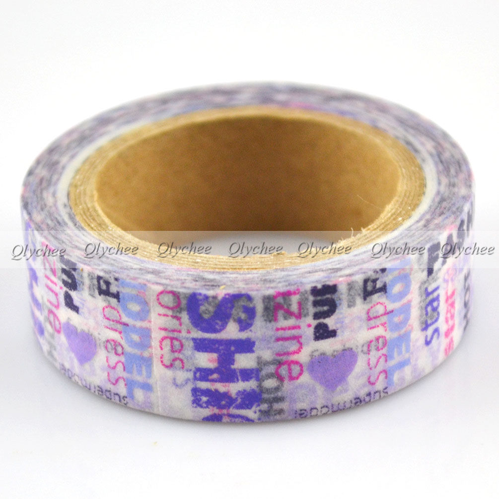 japanese extra wide deco decorative floral washi paper tape masking tape ebay. Black Bedroom Furniture Sets. Home Design Ideas